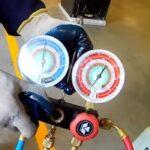 carga de gas en un aire acondicionado split